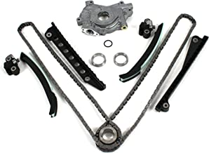 TK3060OP New Timing Chain Kit (with UPDATED Style Tensioners) & Oil Pump Set (w/ 24mm inlet) for 04-08 Ford 5.4L (3-Valve) F-150 Lincoln Mark LT Navigator