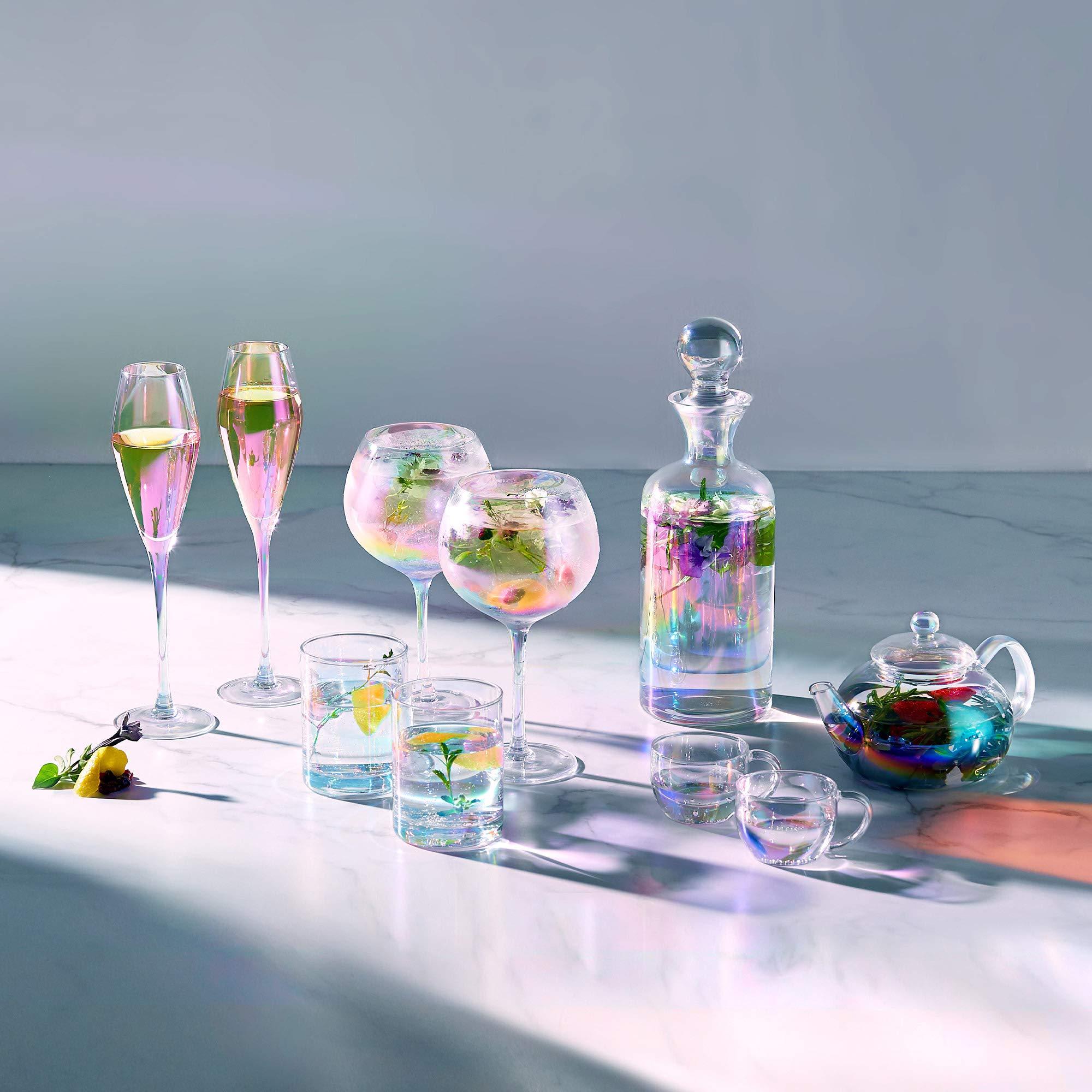 Juego de 2 Gin G/&T Beautify Copas de Ginebra Iridiscentes Copas Tallo Largo Estilo Globo
