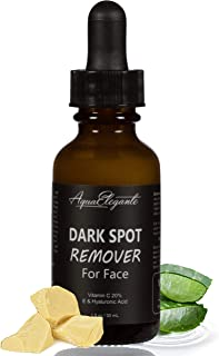Dark Spot Remover For Face - Skin Brightening Vitamin C Serum With Hyaluronic Acid And Vitamins A & E - Natural Anti Aging Vegan Facial Cream + Skincare Corrector