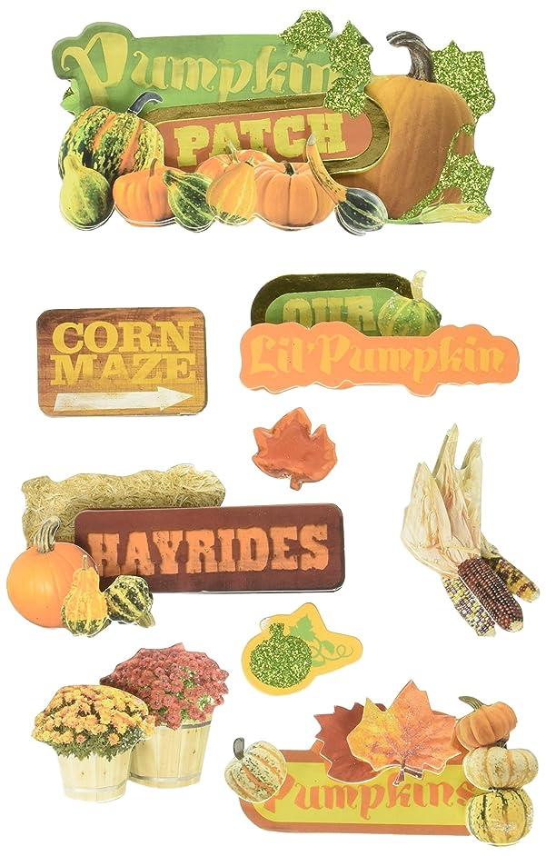 Paper House Productions STDM-0102E 3D Sticker, Pumpkin Patch