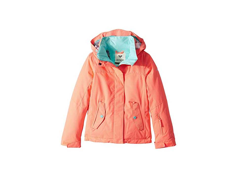 Roxy Kids Jetty Solid Jacket (Big Kids) (Neon Grapefruit) Girl