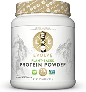 evolve protein powder ideal vanilla real plant-powered