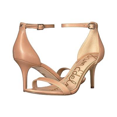 Sam Edelman Patti Strappy Sandal Heel (Buff Nude Vaquero Saddle Leather) High Heels