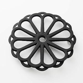 岩鋳 Iwachu 釜敷 輪菊 小 黒 ⌀17.5cm 南部鉄器 17027