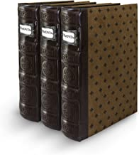 Bellagio-Italia Tuscany Chestnut DVD Storage Binder Set - Stores Up to 144 DVDs, CDs, or Blu-Rays - Stores DVD Cover Art -...