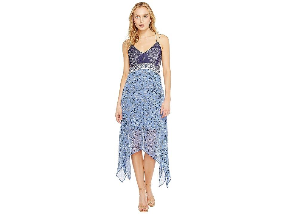 Lucky Brand Scarf Print Dress (Navy Multi) Women