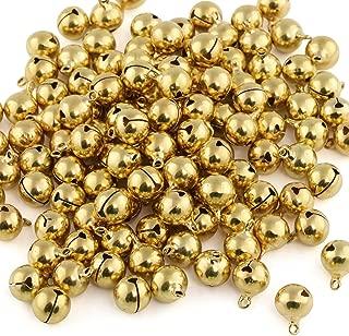 Naler 120Unidades cascabeles Golden Abrazaderas Campanas de Cobre para Joyas Manualidades Paquete de Regalo Navidad Decoración, 12mm