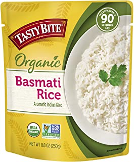 Tasty Bite Organic Basmati Rice 8.8 Ounce (Pack of 6), Indian-Style Organic Basmati Rice, Fully Cooked, Ready to Serve, Mi...