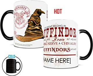 Morphing Mugs Personalized Harry Potter Gryffindor Sorting Hat Quote Heat Reveal Ceramic Coffee Mug - 11 Ounces - ADD YOUR OWN NAME TO YOUR HOGWARTS HOUSE!