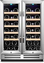 Karcassin Wine Cooler Refrigerator – Compressor Wine Chiller – Dual Temp Zones wine fridge for Red & White – Stores upto 36 Bottles – Silent with Low Vibrations – Freestanding or Built-in