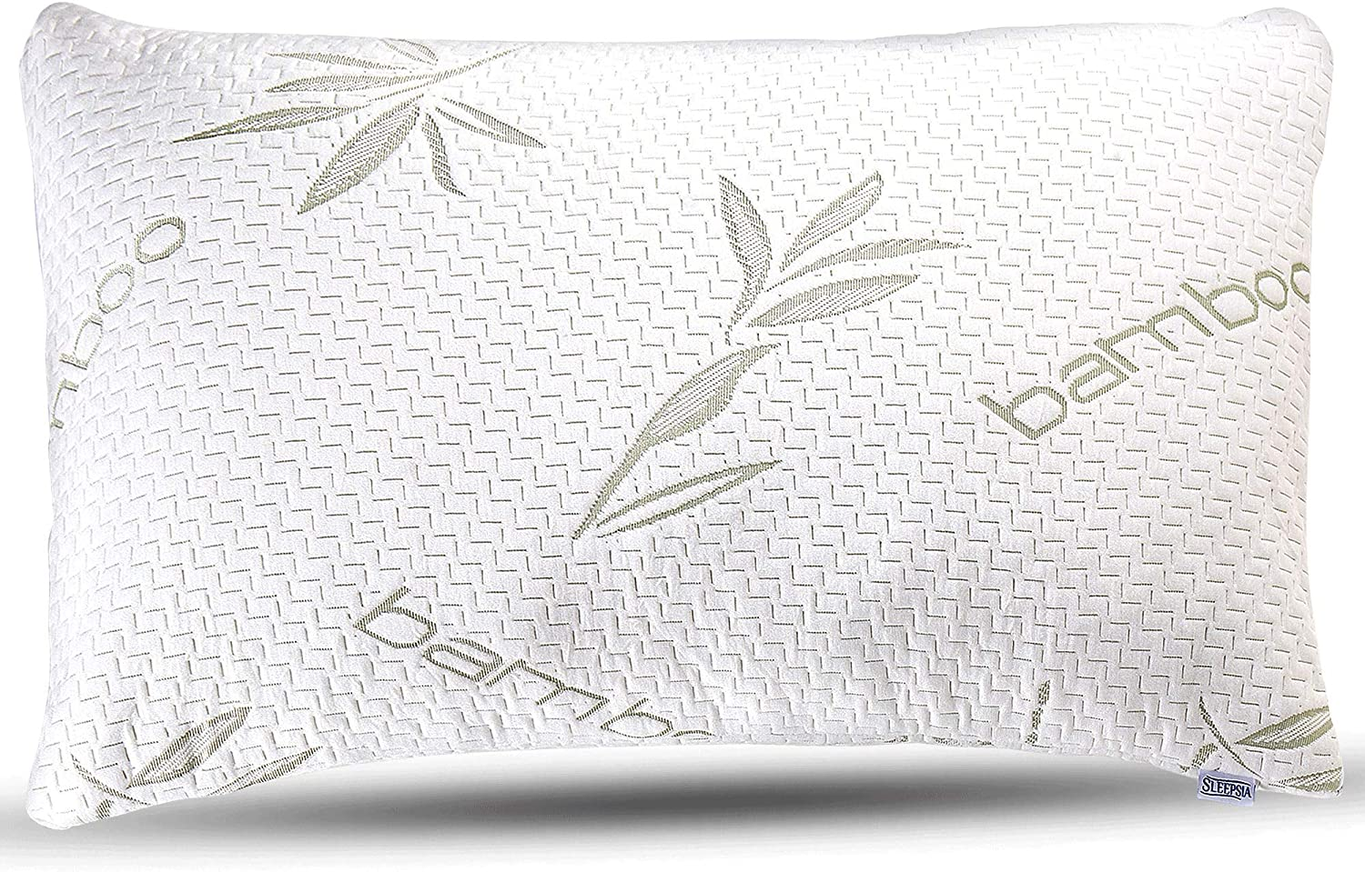 Sleepsia Bamboo Pillow - Premium Pillows for Sleeping - Memory Foam Pillow with Washable Pillow Case - Adjustable (King)