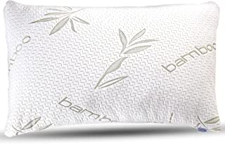 Bamboo Pillow - Premium Pillows for Sleeping - Memory Foam Pillow with Washable Pillow Case - Adjustable (King)