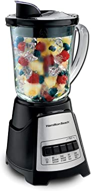 Hamilton Beach Power Elite Blender with 12 Functions for Puree, Ice Crush, Shakes and Smoothies and 40oz BPA Free Glass Jar,