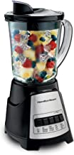 Hamilton Beach Power Elite Blender with 12 Functions for Puree, Ice Crush, Shakes and Smoothies and 40oz BPA Free Glass Jar, Black and Stainless Steel (58148A)