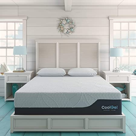 Classic Brands Cool Gel Chill Memory Foam 14-Inch Mattress with 2 BONUS Pillows |CertiPUR-US Certified |Bed-in-a-Box, California King