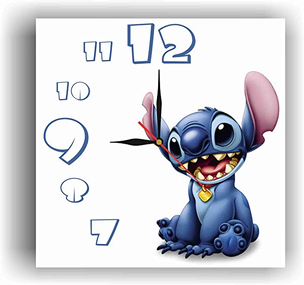 ArtWall Lilo And Stitch 11 8 Handmade Clock Get Unique D Cor For Home Or Office Best Gift Ideas For Kids Friends Parents And Your Soul Mates Made Of Plastic