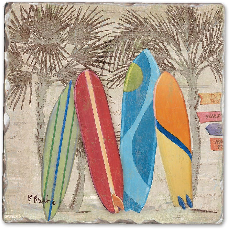 mejor calidad Surf City Single Tumbled Tumbled Tumbled Tile Coaster  envío gratuito a nivel mundial