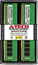 A-Tech 16GB (2x8GB) DDR4 2400MHz DIMM PC4-19200 UDIMM Non-ECC 2Rx8 1.2V CL17 288-Pin Desktop Computer RAM Memory Upgrade Kit