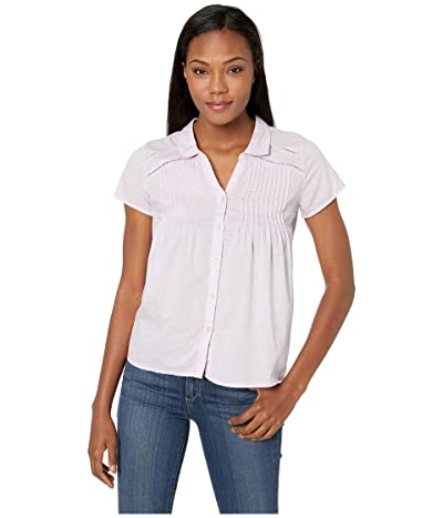 Prana Katya Short Sleeve Top (Bleached Lavender) Women