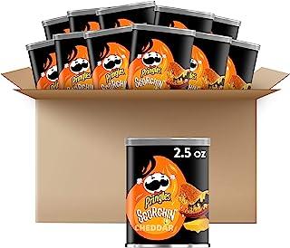 Pringles Scorchin', Potato Crisps Chips, Cheddar, Fiery Spicy Snacks, 30oz Case (12 Count)
