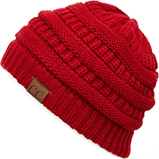Hatsandscarf Exclusives Unisex Soft Stretch Fuzzy Sherpa Lined Beanie Hat (HAT-25)