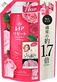 Lenor Reset Fabric Softener, Prevents Wrinkles & Damage in Clothes, Fresh Rose & Natural Garden Scent, Refill, Approx. 1.7...