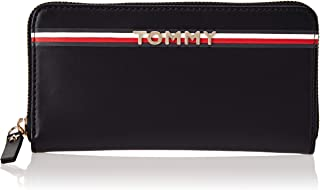 Tommy Hilfiger Zip Around Wallets for Women - Black (AW0AW05755)