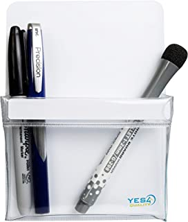 Magnetic Pen Holder for Refrigerator with Strong Magnetic Back - Dry Erase Marker Holder Ideal for Whiteboard, Fridge - Pencil Cup (Medium, White)