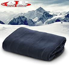 AJP Distributors 12V Car Truck Heated Blanket Electric Fleece Travel Heating Seat Blanket Throw Automotive Vehicle Road Travel Trip RV Soft Polar Fleece Winter Cold Weather- Anti-Flammable Material