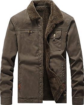 Vcansion Men's Classic Cotton Jacket