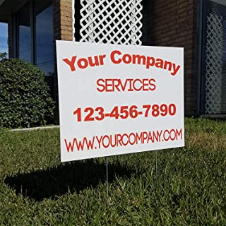 Vibe Ink Custom Full-Color Yard or Lawn Signs Double-Sided Corrugated Plastic with Metal H-Stake Stand - Great for Political, Small Business, Arts 'n Crafts, Events, Real Estate and More! (24x18)