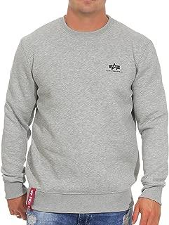 Men's Sweatshirt Basic Small Logo, Größe:M, Farbe:Grey Heather