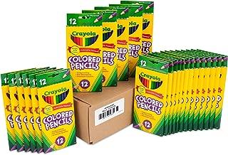 Crayola 彩色铅笔,每支 12 支,预削,各种颜色 72 months to 180 months 标准包装 Colored Pencils NA