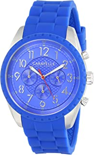 Caravelle New York Men's 43A121 Analog Display Japanese Quartz Blue Watch