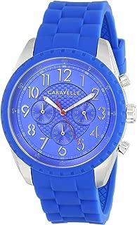 Caravelle New York Men's 43A121 Analog Display Japanese Quartz Blue Watch
