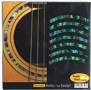 Inlay Sticker Decal Acoustic Guitar Purflinng Sound hole In Abalone Theme - Rosette Strip /GR