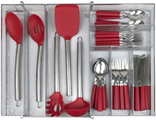 Sorbus Flatware Drawer Organizer, Expandable Cutlery Drawer Trays for Silverware, Serving Utensils, Multi-Purpose Storage ...