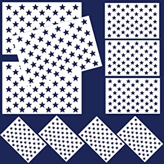 American Flag 50 Stars Stencil, 10 Pcs Stars Template Stencil for Painting on Wood, Fabric, Paper, Airbrush, Walls Art
