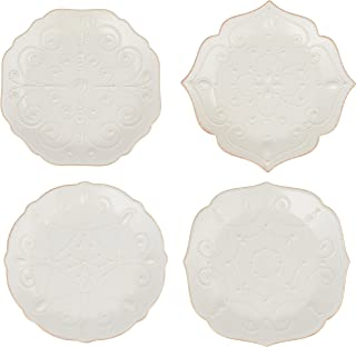Lenox French Perle Assorted Plates, 7.5-Inch, White, Set of 4 - 829072
