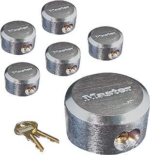Master Lock 6271KA 6 Pack 2-7/8in. ProSeries Reinforced Hidden Shackle Rekeyable Pin Tumbler Keyed Alike Padlock, Chrome