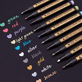 Dyvicl Metallic Markers Paint Marker Pens – Medium Point Metallic Markers for Rock..