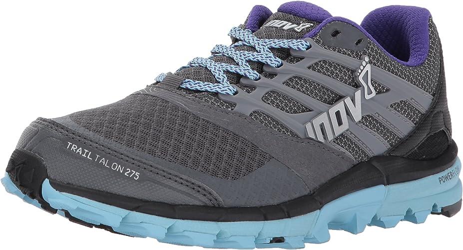INOV-8 Nouveau Trailtalon 275 Chaussures de Course pour Femme Chaussures de Sport gris Bleu, gris, 38.5