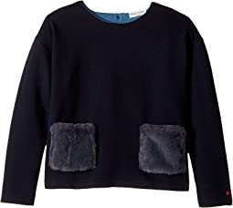 Sonia Rykiel Kids - Long Sleeve Fur Pocket Top (Big Kids)