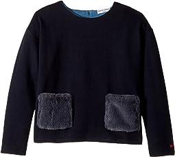 Long Sleeve Fur Pocket Top (Big Kids)