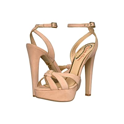 Charlotte Olympia It Girl (Blush Suede/Gold) Women