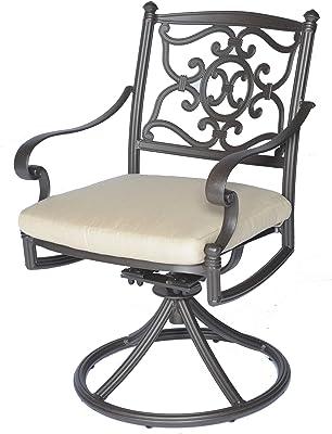 Meadow Decor 2623-45 Kingston Patio Swivel Rocker Chair, Black