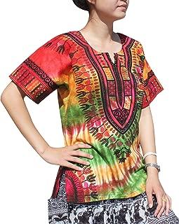 Raan Pah Muang RaanPahMuang 非洲长崎墨西哥野生扎染短袖衬衫 XS-7XL