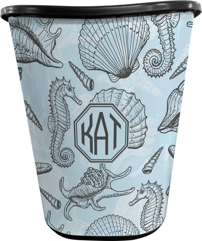 RNK Shops Sea-Blue Seashells Waste Double - Black Basket Sided Super Popular brand Special SALE held