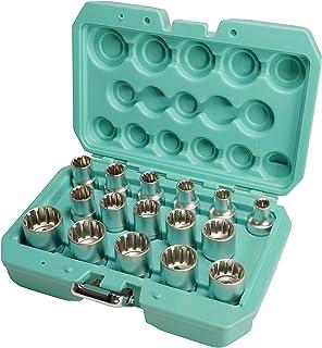 XZN Hylsnyckelset 1/2 tum 16 delar från WIESEMANN 1893 I nöt set kullas av Q-30 stål I inre flertandskär I Med praktiskt v...