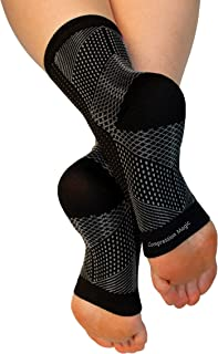 Compression Magic (1 Pair Foot Sleeves - Sock Supports That Relieve Pain and Swelling in Feet and Ankles for Men and Women